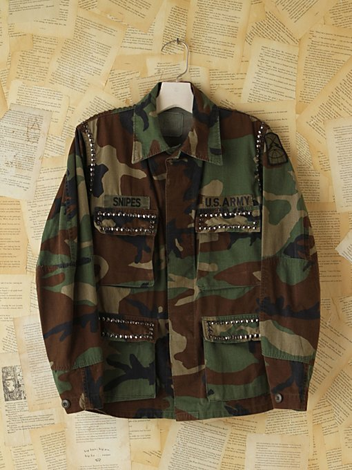 Free People Vintage Studded Camo Jacket in vintage-jackets