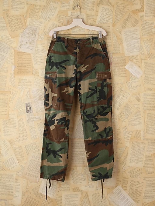 Free People Vintage Camo Pants in vintage-skirts