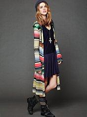 Hooded Color Spectrum Cardigan