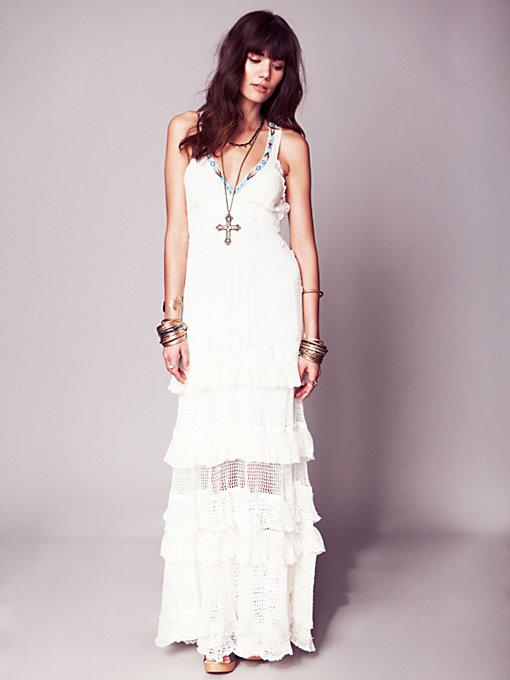 Free People Kristal's Limited Edition White Dress in white-maxi-dresses