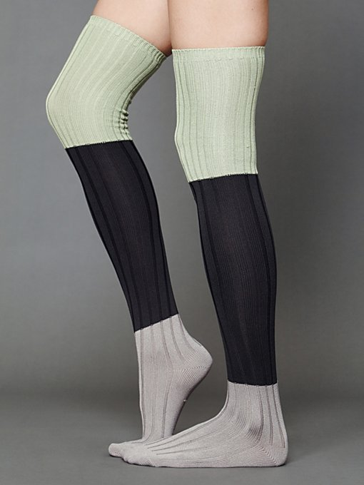 Colorblock Rib Tall Sock