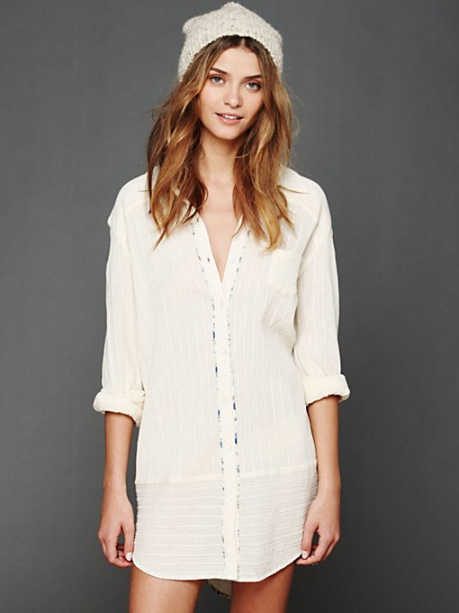 Free People Shirt Dress in long-tunics