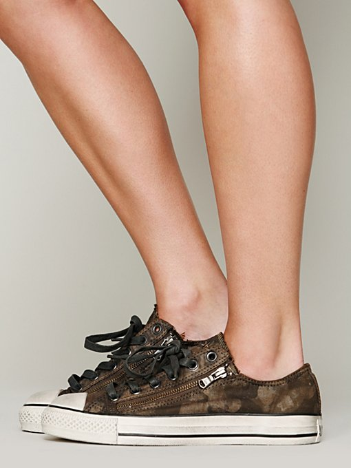 Camo Double Zip Chucks in shoes-sneakers