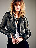 Vegan Leather Metallics Jacket