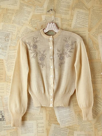 Vintage Embellished Wool Sweater