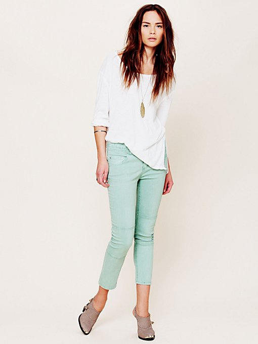 Free People Herringbone Skinny Crop in Jeans
