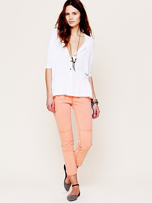 Free People Herringbone Skinny Crop in Skinny-Pants