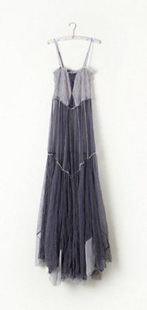 Raw Tulle Maxi Slip in intimates-slips-and-bloomers-slips