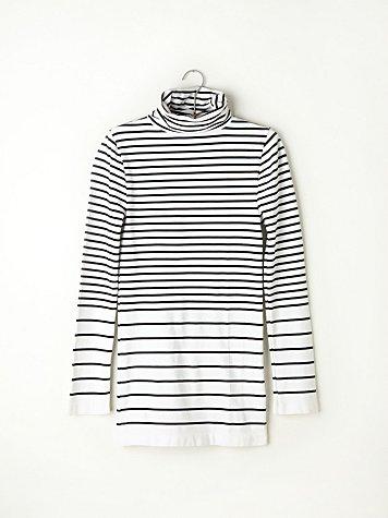 Stripe Seamless Turtleneck