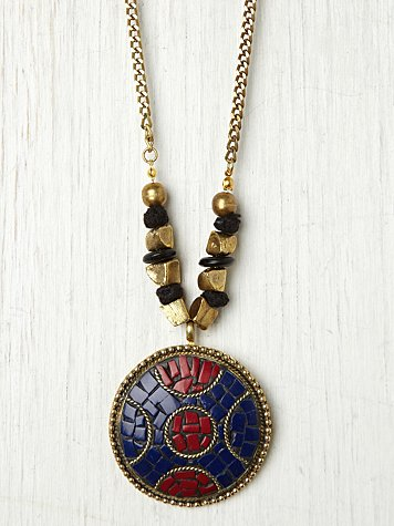 Stephen & Co. Enamel Disc Pendant