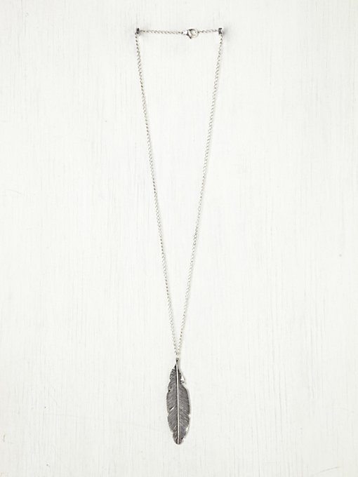 Free People Feather Pendant Necklace in bib-necklaces