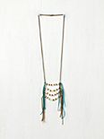 Suede Fringe Breastplate Necklace
