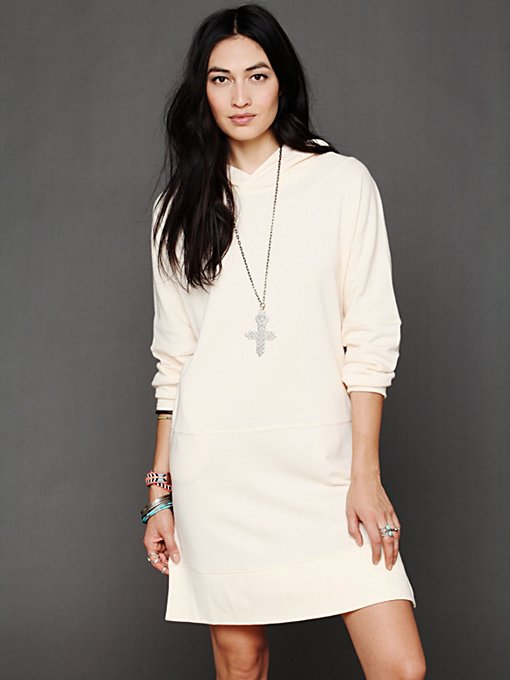 Free People Kicking Around Hoodie Tunic in cotton-tunics