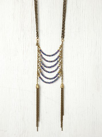 Age of Reason Blue Violet Statement Necklace