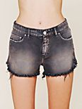 Dolphin Hem Denim Cut Off