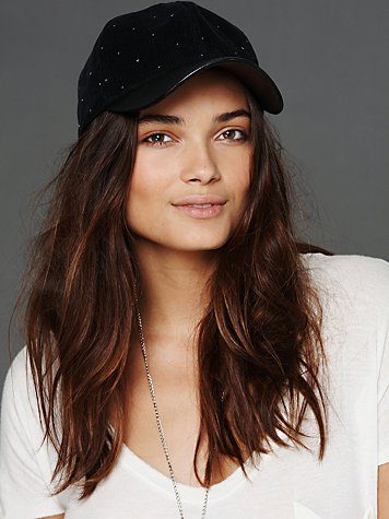 Leather Brimmed Hat at Free People  :  leather corduroy hat
