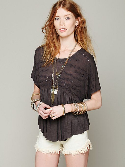 Sweetart Boxy Top in statement-knits