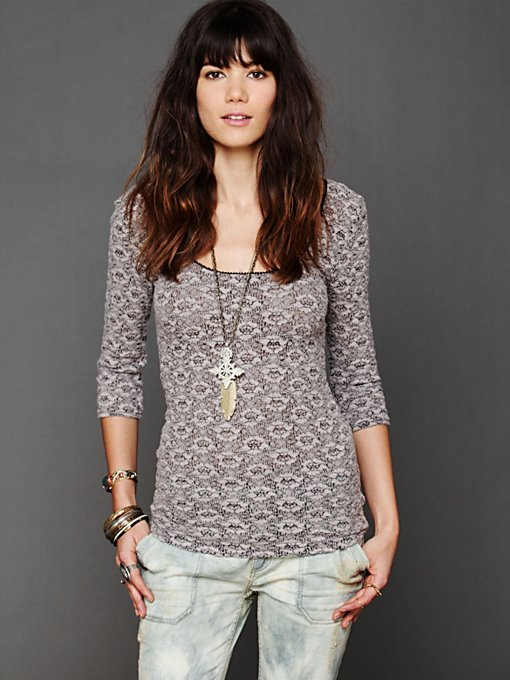 Brushed Lace Layering Top in sale-sale-under-70