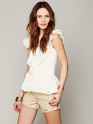 Free People Destroyed Chino Cutoff
