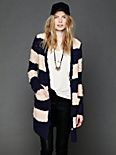 Rugby Stripe Long Cardigan