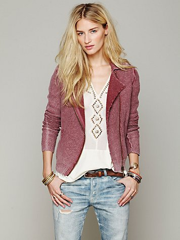 Free People Zip Up Sweater Jacket
