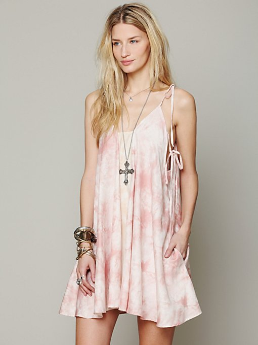 Lindsey Thornburg for Free People Handkerchief Dress with Pockets in Shift-Dresses