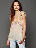 Neon Embellished Top