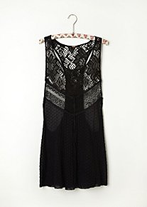 Mixed Lace Drop Tank in Intimates-the-lace-shop