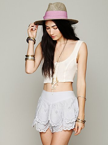 Free People Tiered Eyelet Short
