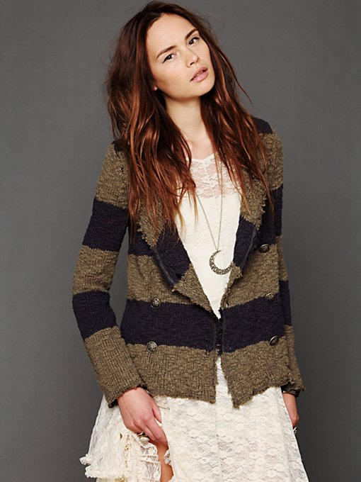 Free People Coat Of Arms Jacket in cardigan-sweaters