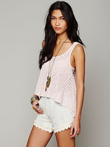 Free People Kate's Crochet Tank