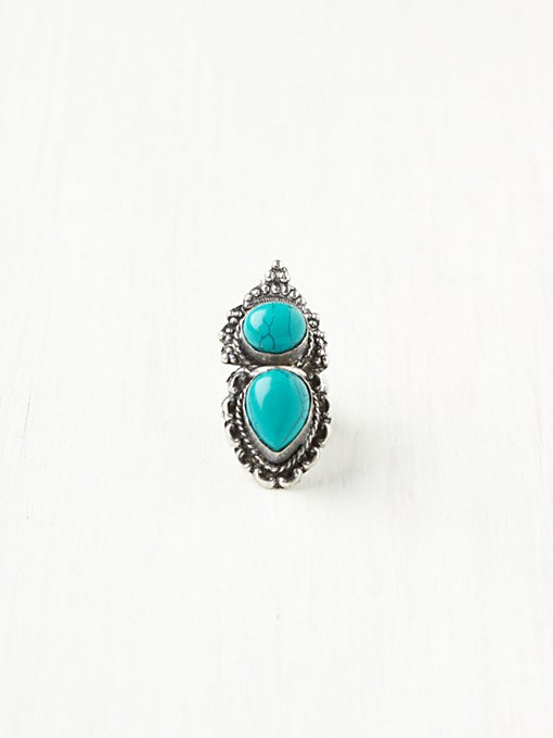 Double Indian Stone Ring in accessories-jewelry