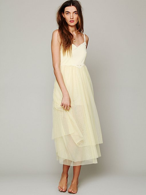 Free People Painted Lady Maxi Slip in slip-dresses
