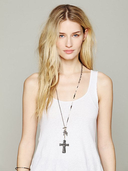 Free People Charmed Lariot Pendant in necklaces