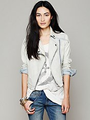 Railroad Stripe Moto Jacket