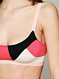 VDay Color Blocked Bra