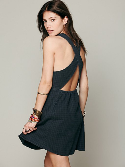 Free People Cross Back Dress in Shift-Dresses