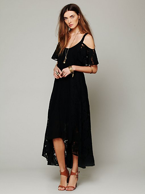 Free People Moonlight Off the Shoulder Dress in black-maxi-dresses