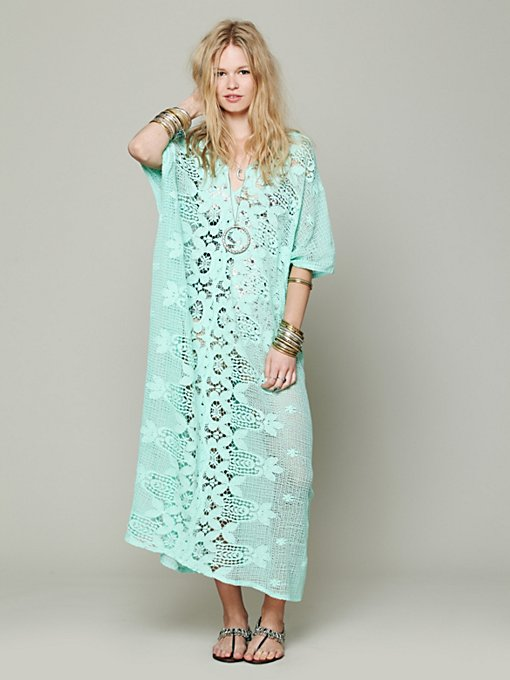 Miguela Rachel Scallop Lace Poncho in lace-dresses