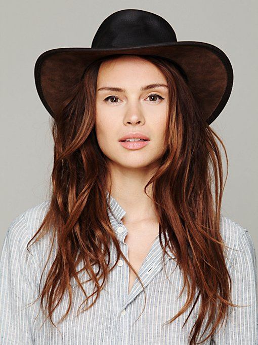 Minnetonka Fold Up Leather Hat in Hats