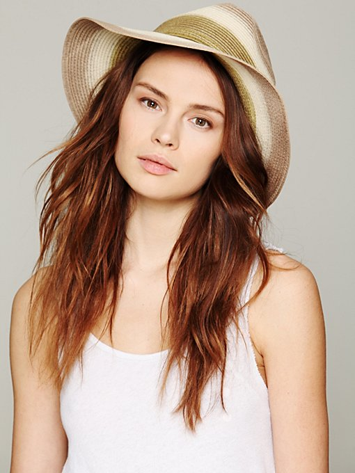 Ombre Straw Panama Hat in Hats