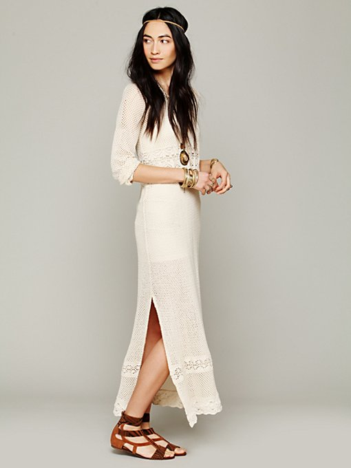 Free People Swit Hooded Maxi in crochet-dresses
