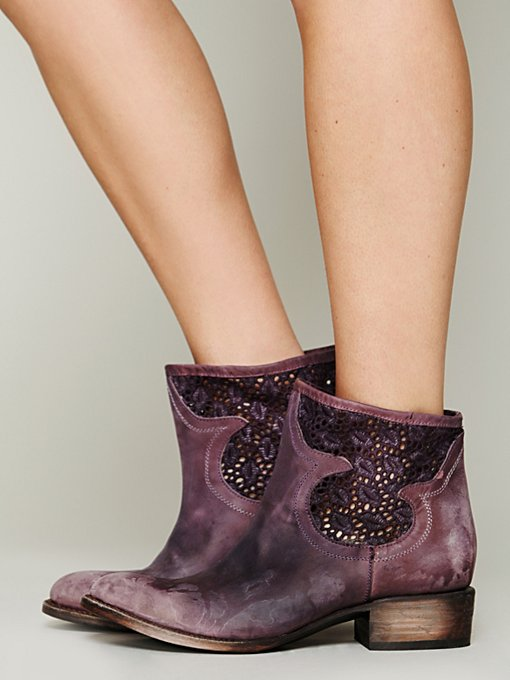 FREEBIRD by Steven Crochet Coyote Boot in ankle-boots