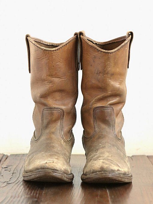 Vintage Distressed Leather Boots