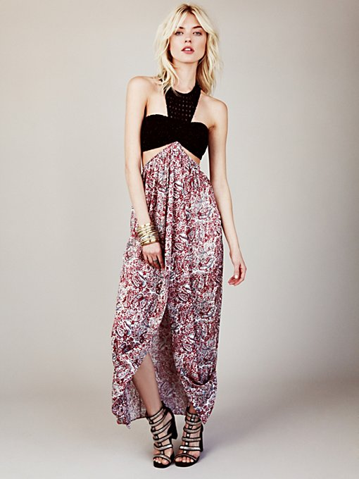 Free People Mata Hari Maxi Dress in Chiffon-Dresses