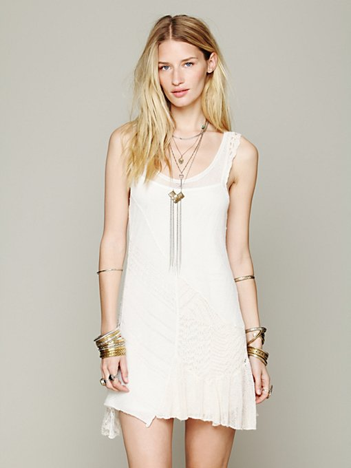 Free People Sleeveless Pieced Sweater Tunic in sheer-blouses