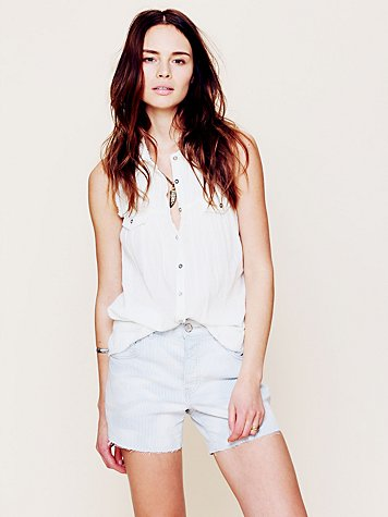Free People Denim Boyfriend Short
