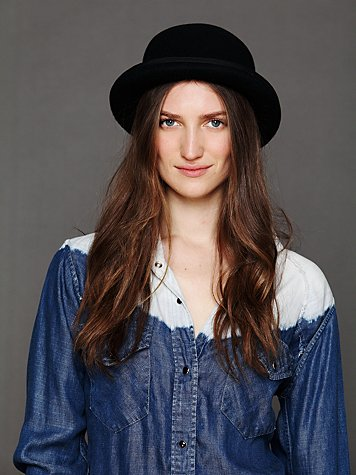 Free People Wool Felt Bowler Hat