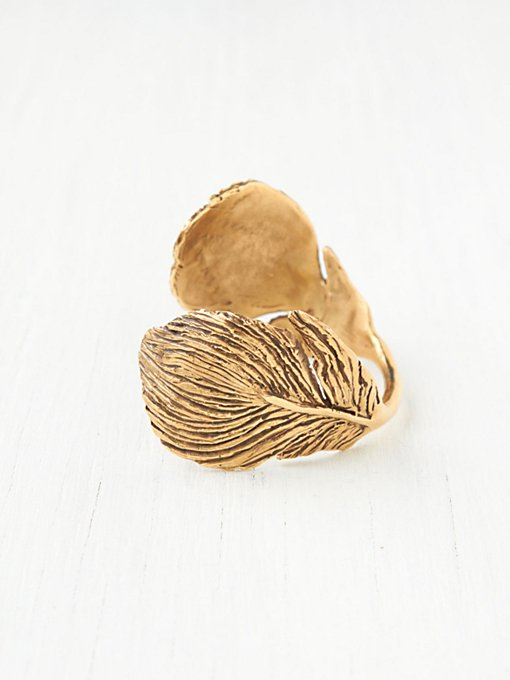 Bear Head Peacock Feather Cuff in jewelry
