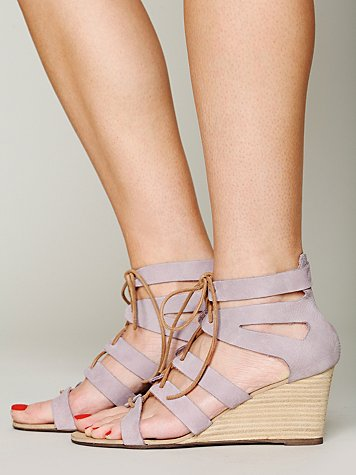 Free People Lace Cradle Mini Wedge